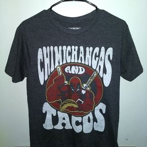 Marvel Shirts - DEADPOOL T-SHIRT <> CHIMICHANGAS & TACOS <> MARVEL